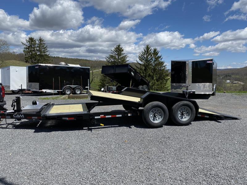 2020 Cam Superline 21' Extra-wide Split Deck Tilt Trailer