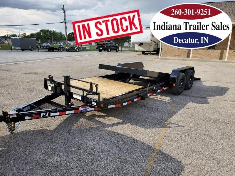 2022 PJ Trailers 82x22 T6222 Equipment Trailer Tilt