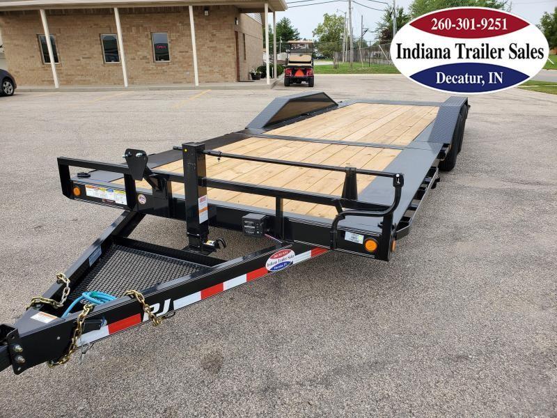 2021 PJ Trailers 102x24 TS242 Equipment Trailer Tilt