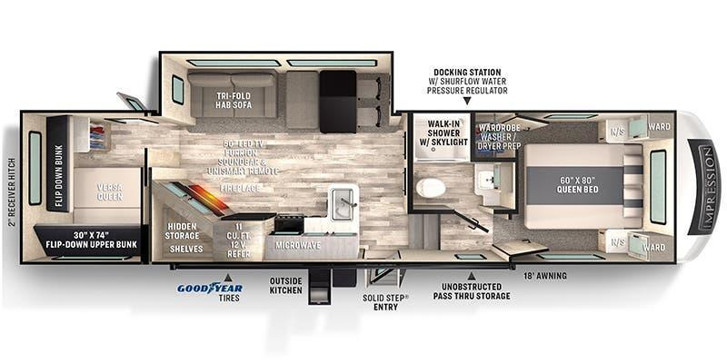 2021 Forest River 290VB Fifth Wheel RV