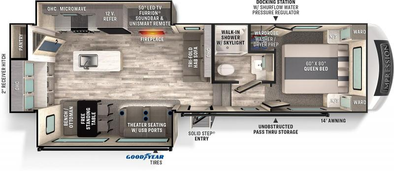 2021 Forest River Impression 270RK Fifth Wheel Campers RV