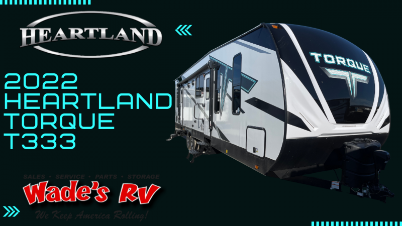 2022 Heartland Torque TQ T333 Toy Hauler RV