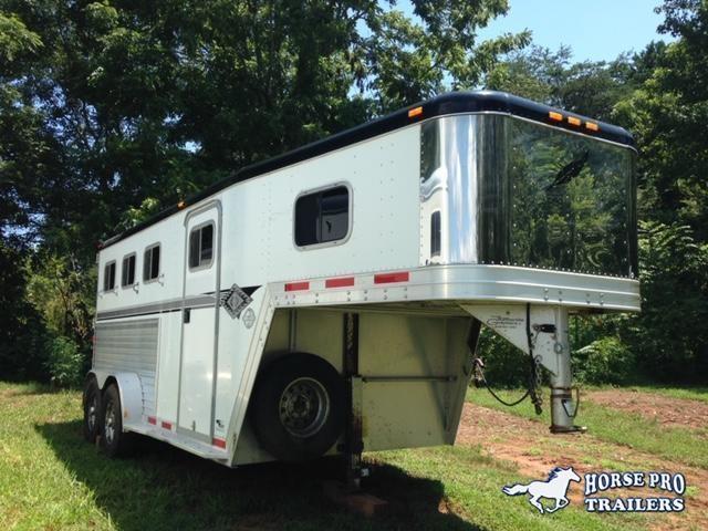 1998 Featherlite 8544 3 Horse Slant Load Gooseneck Horse Trailer