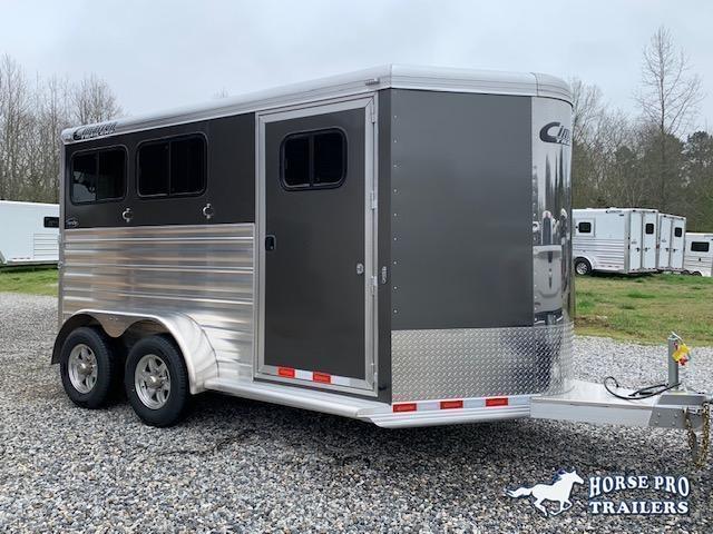 2021 Cimarron 2 Horse Slant Load Bumper Pull w REAR RAMP