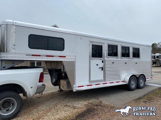 2021 Adam 4 Horse Slant Gooseneck w/REAR TACK & ROOF INSULATION