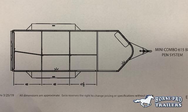 2021 Exiss Exhibitor Mini Combo 615W Low Profile Bumper Pull w/PEN SYSTEM