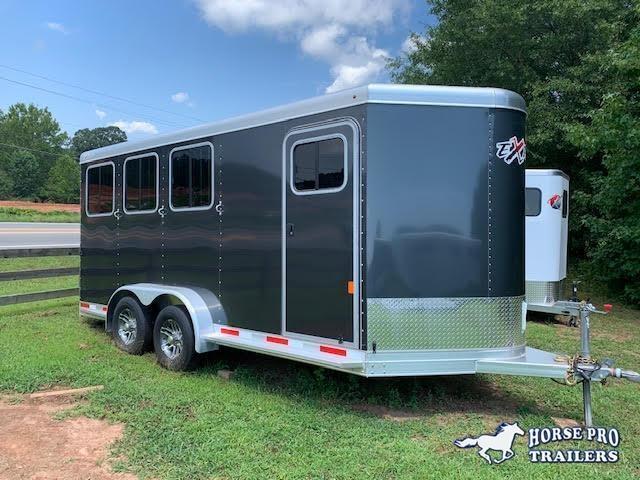 2021 Exiss 730 3 Horse Slant Load Bumper Pull w/Rear Tack & POLYLAST FLOORING!