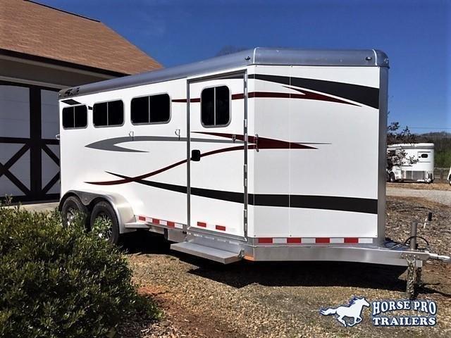 2022 Charcoal 4-Star 3 Horse Slant Load Bumper Pull w/REAR TACK