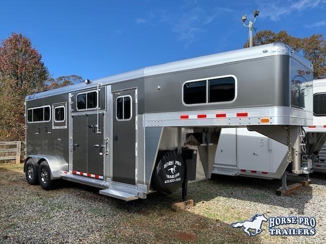 2022 4-Star 2 Horse Side Ramp Gooseneck 18' w/QUIET RIDE