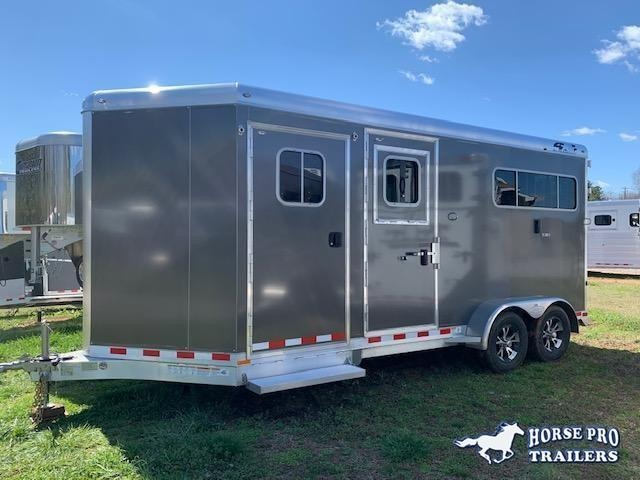 2021 4-Star 2 Horse Straight Load Bumper Pull w/SIDE RAMP & QUIET RIDE