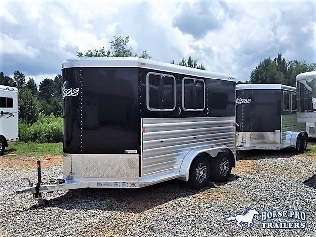 2021 Exiss CXF 2 Horse Slant Load Bumper Pull w/DROP WINDOWS