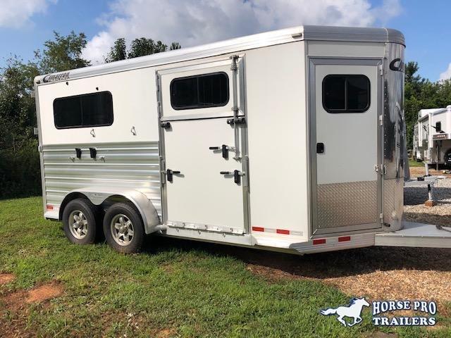 2019 Cimarron 2 Horse Straight Load Bumper Pull XL w SIDE RAMP