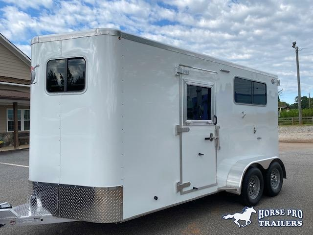 2021 Kiefer 2 Horse Straight Load Bumper Pull w/ROOF INSULATION