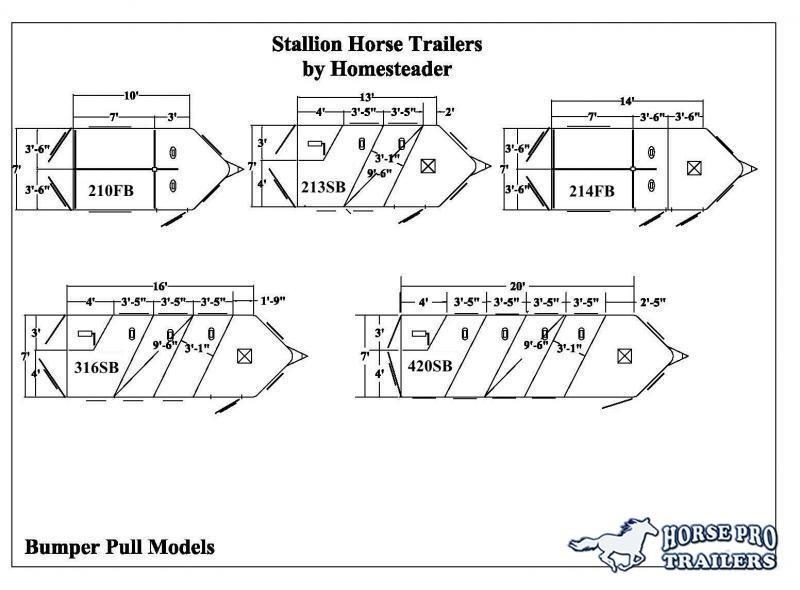 2020 Homesteader 2 Horse Slant  Bumper Pull with Escape Door