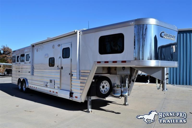 2022 Cimarron Norstar 4 Horse 12'6 Outback Living Quarters w/Slide Out & FULL WIDTH RAMP!
