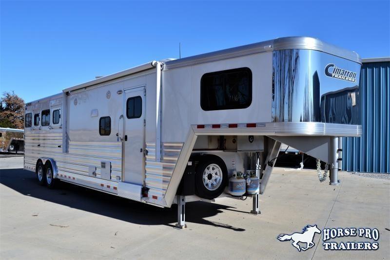 2022 Cimarron Norstar 4 Horse 12'6 Outback Living Quarters w/Slide Out & FULL WIDTH RAMP!