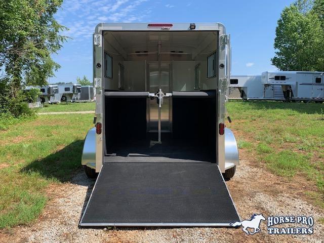 2020 Adam Ju-Lite 2 Horse Straight Load Bumper Pull w/WALK-THRU DOOR & MANGERS