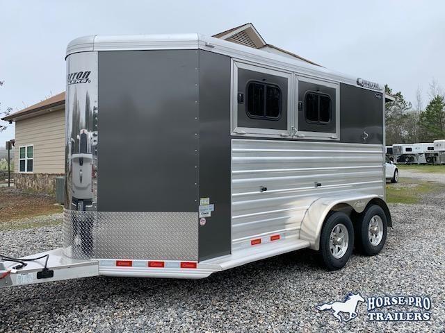 2022 Cimarron 2 Horse Slant Load Bumper Pull w REAR RAMP