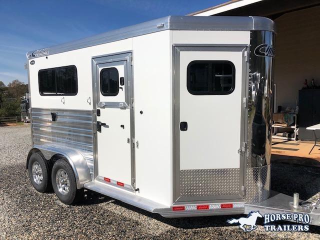 2021 Cimarron 2 Horse Straight Load Warmblood Bumper Pull
