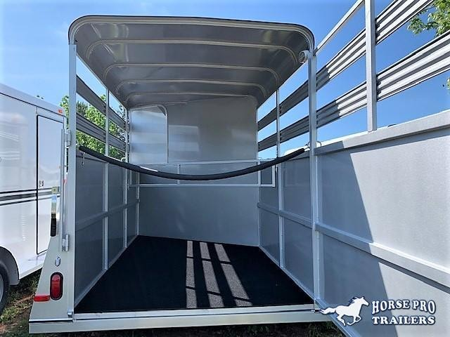 2021 Bee 2 Horse Slant Load Bumper Pull w/Stock Sides