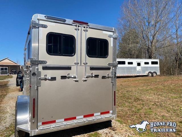 2022 Adam Jubliee 2 Horse Straight Load Bumper Pull ALL ALUMINUM with Side Ramp