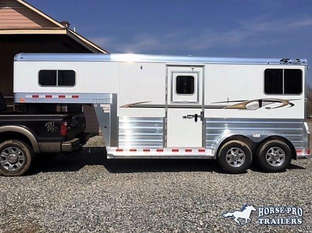 2021 4-Star Deluxe 2 Horse Straight Load Gooseneck w/QUIET RIDE & WERM FLOORING!