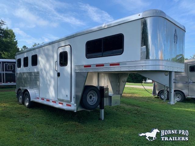 2021 Adam 3 Horse Slant Gooseneck w/REAR TACK & ROOF INSULATION