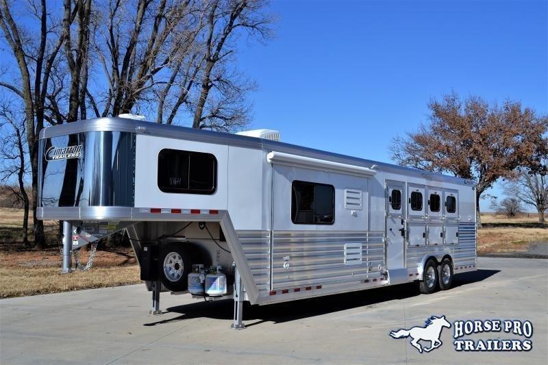 2019 Cimarron Norstar 4 Horse 12'6 Outback Living Quarters w/Slide Out & FULL WIDTH RAMP!