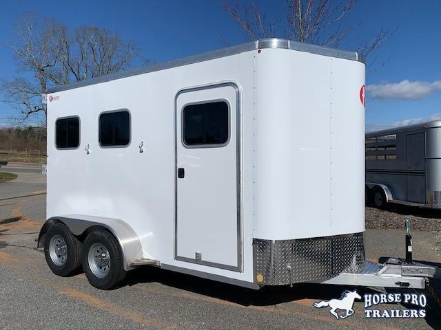 2021 Kiefer 2 Horse Slant Load Bumper Pull w/REAR TACK & FULL WIDTH RAMP
