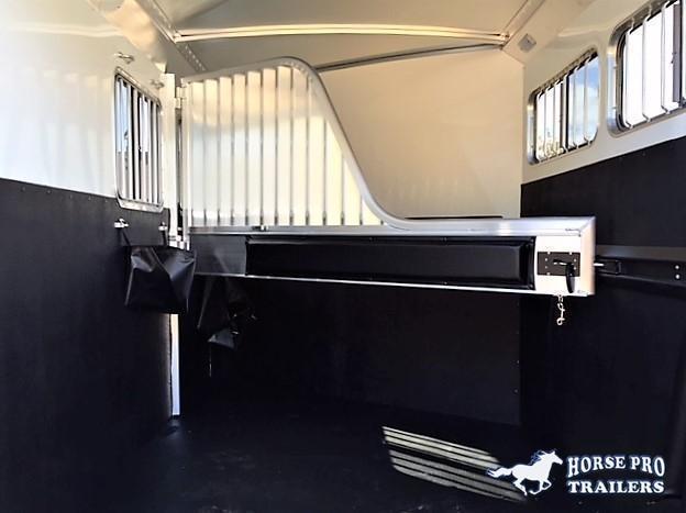 2022 4-Star 2 Horse Slant Load Bumper Pull - Escape door -