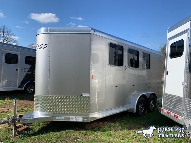 2020 Exiss 730 3 Horse Slant Load Bumper Pull w/Rear Tack & POLYLAST FLOORING!