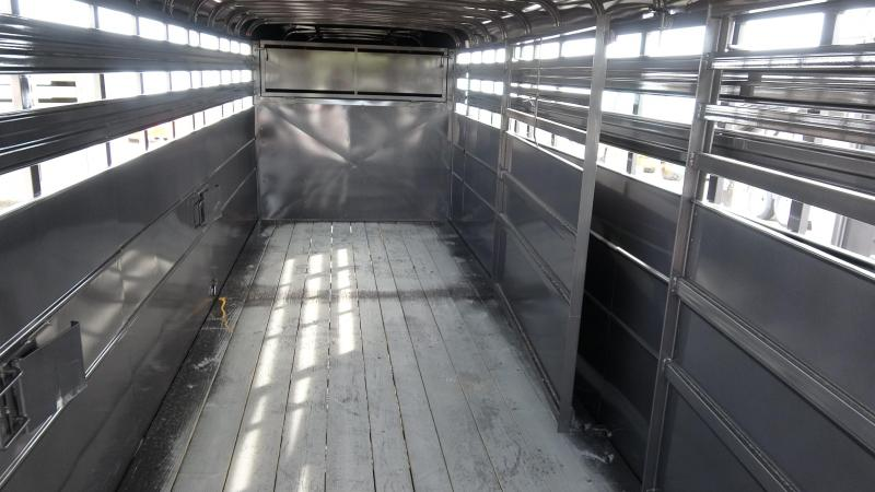 2021 Delta 24 Delta Heavy Livestock Trailer Metal Topped With Tandem 7k Axles (CL)