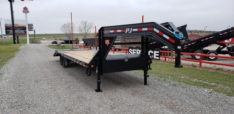 2021 PJ Trailers 30' Low-Pro Flatdeck with Singles Trailer