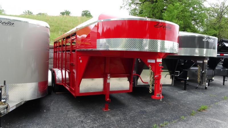 2019 Delta Manufacturing 2019 Delta 500ES 16 Gooseneck Tandem Axle Livestock/Horse Trailer