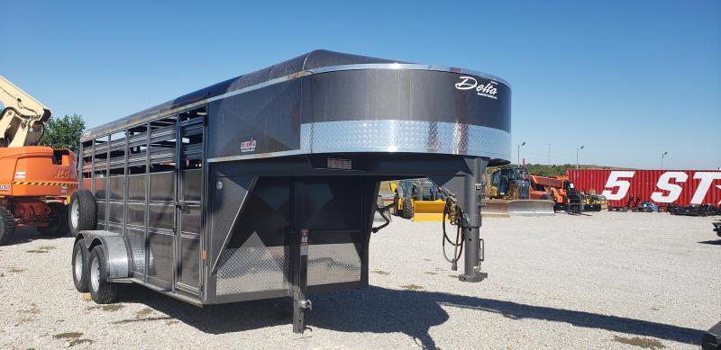 2021 Delta Manufacturing 2021 Delta 500ES 16 Gooseneck Tandem Axle Livestock/Horse Trailer