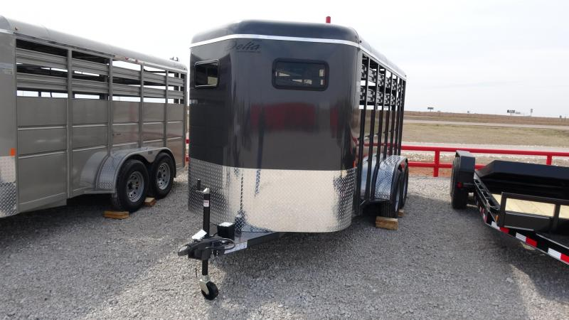 2019 Delta Manufacturing 2019 Delta 500 16 Tandem Axle BP Livestock/Horse Livestock Trailer