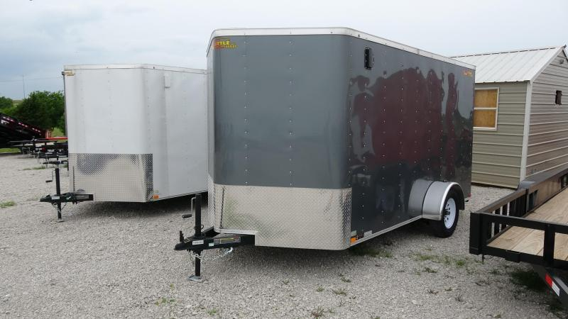 2021 Doolittle Trailer Mfg 2021 12x7 Doolittle Bullet Series Enclosed/Cargo Trailer Single 3500lb Axle Metallic Gray