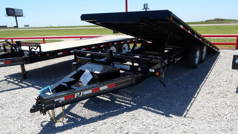2021 PJ Trailers 22' Deckover Tilt Tandem 7000lb Axles (CL)