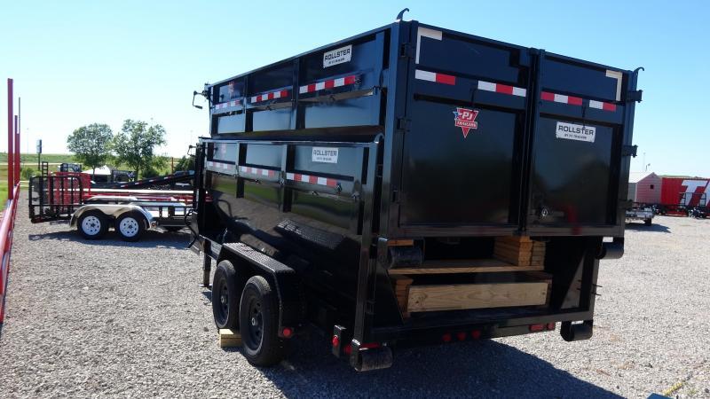 2020 PJ Trailers 14' Rollster Roll Off Dump Trailer (1 Dump Bin Inlcuded)