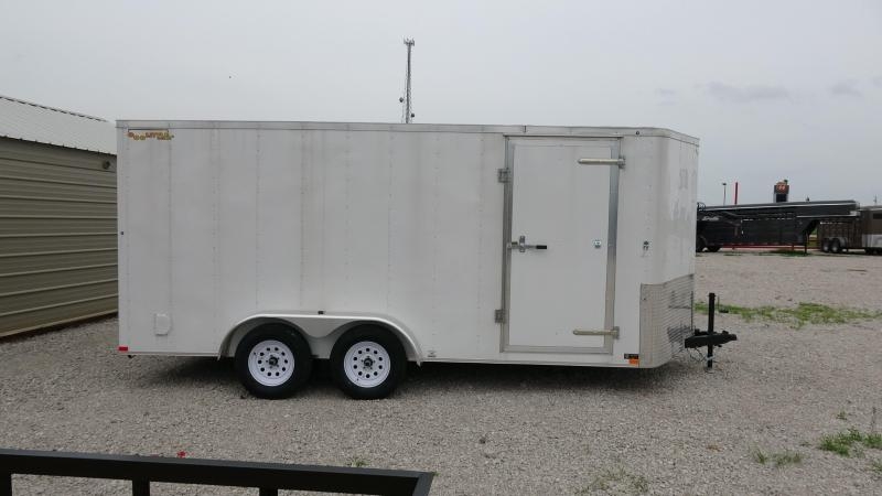 2021 Doolittle Trailer Mfg 2021 16x7 Doolittle Bullet Series Tandem Axle Enclosed Trailer in White or Gray