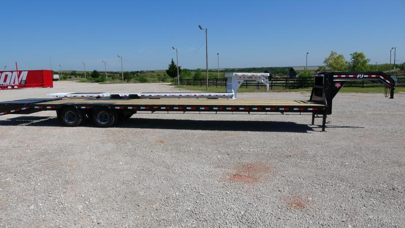 "2020 PJ Trailers 102""x40' Low Pro Flatdeck (LD) Monster Ramps"