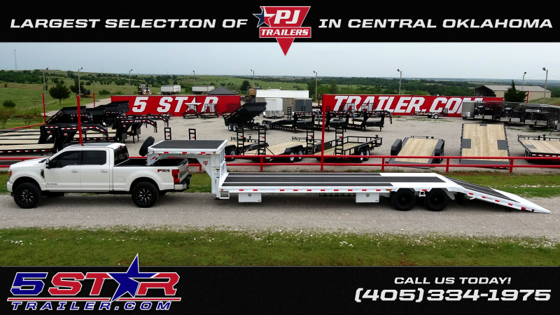 "2020 PJ 83""x20' Bumper Pull or Gooseneck 14k Equipment/Car Hauler (CC) Starting@ $5450"