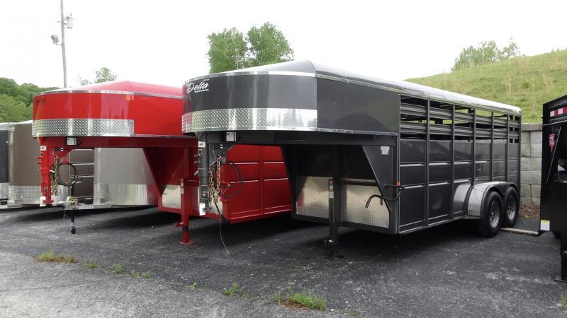 2021 Delta Manufacturing 2019 Delta 500ES 16 Gooseneck Tandem Axle Livestock/Horse Trailer