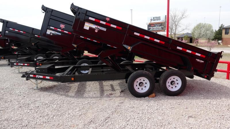 "2021 PJ Trailers DM 83""x14' Low Pro Dump Includes Tarp Kit (CL)"