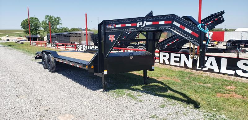 2020 PJ Trailers 24' x 10 GOOSNECK SUPER WIDE SKIDSTEER/EQUIPMENT TRAILER WITH TANDEM 10K AXLES/18PLY TIRE & MONSTER RAMPS