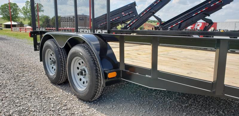 "2020 5 STAR 14'X77"" TANDEM 3500LB AXLE UITILTY TRAILER WITH FOLD-UP REAR GATE"