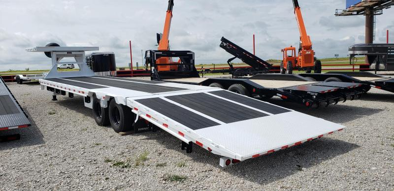 2021 PJ 36' Gooseneck Low-Pro 12K Duals Hydraulic Dove and Jacks with Removable Deck on the Neck Blackwood Pro Full Deck