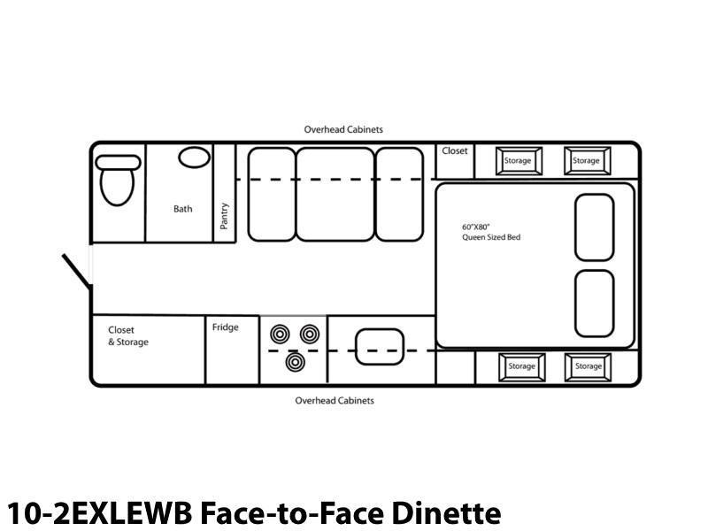 2021 Northern Lite Limited Edition 10-2EXLEWB Face-to-Face Dinette