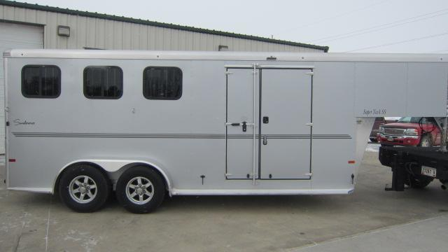 2021 Sundowner Trailers Super Tack 3 Horse Trailer