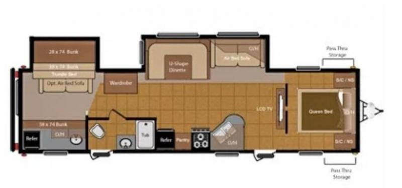 2012 Sprinter 311 BHS Travel Trailer RV